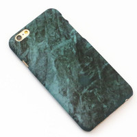 Green Hard Marble Texture iPhone 7 7Plus & iPhone 6 6s Plus & iPhone 5s se Case Cover +Gift Box