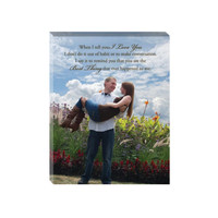 Photo Canvas Vows- wedding vows canvas, photo vows on canvsa, first dance canvas, song lyrics canvas, wedding canvas wrap, canvas verse