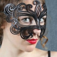 Muse leather mask in black | TomBanwell - Leather Craft on ArtFire