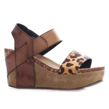 Cheetah Elastic Wedge