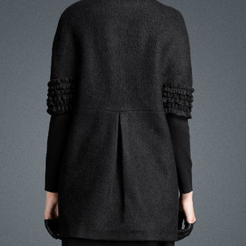 women loose wool coat Casual Jacket Wedding Jacket Party coat  Winter Coat Warm Jacket(J10131)