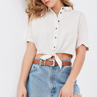 BDG Jena Tie-Front Blouse | Urban Outfitters