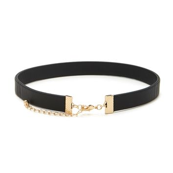 Faux Leather Choker