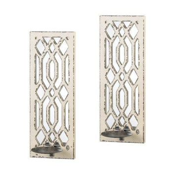 Deco Mirror Wall Sconce Set (pack of 1 PR)