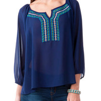JEMMA EMBROIDERED TOP