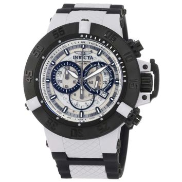 Invicta 0933 Men's Subaqua Noma III Grey Dial Black Rubber Strap Chronograph Dive Watch