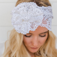 Mrs. I Do Lace Headband