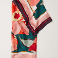 Patterned Satin Scarf - from H&M