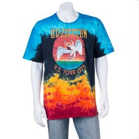Men's Led Zeppelin Icarus Tie-Dye Tee, Size: Large, Blue