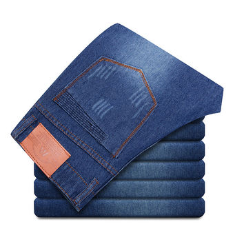 Blue Slim Men Pants Fashion Jeans [6528496643]