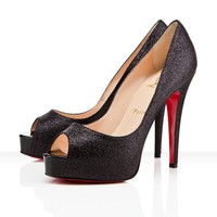Christian Louboutin Black Lady Lynch 120mm