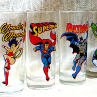 DC comics super hero glasses // Wonder woman // Superman // Batman // Green Lantern