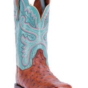 Dan Post Women's Ostrich Quilled Western Boots - Square Toe