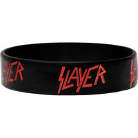 Slayer Men's Logo Rubber Bracelet Black