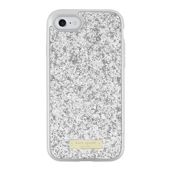 Kate Spade New York Exposed Glitter Case with Metallic Bumper for iPhone 7  - Silver  ef315aedc