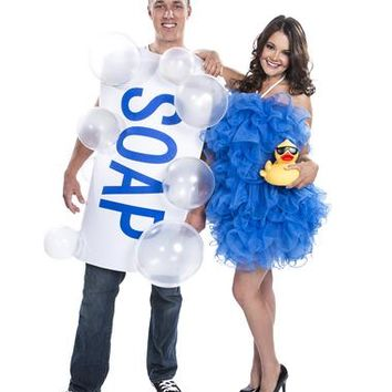 Soap and Loofah Couples Costume – Spirit Halloween