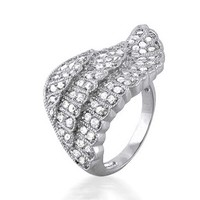 Bling Jewelry Side Angle Wing Ring