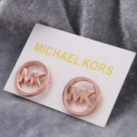 MK Michael Kors hot Sale New fashion letter earring women Rose Gold