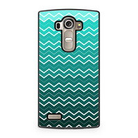 Teal Chevron Pattern LG G4 case