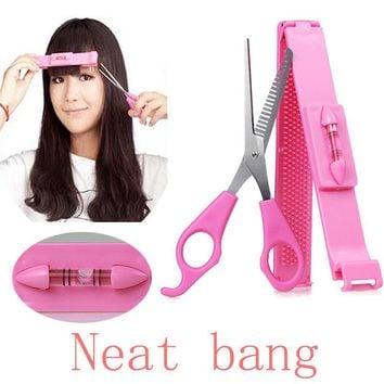 2pcs/set Fringe Bangs Hair Cutter DIY Guide Layers Thinning Cutting Comb Trimmer Styling Tools Clipper