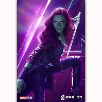 MQ3552 Hot Avengers Infinity War Gamora Movie Characters 2018 Film Art Poster Silk Canvas Home Decoration Wall Picture Printings