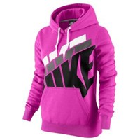 Nike Club Stacked Pullover Hoodie - Women's at Lady Foot Locker