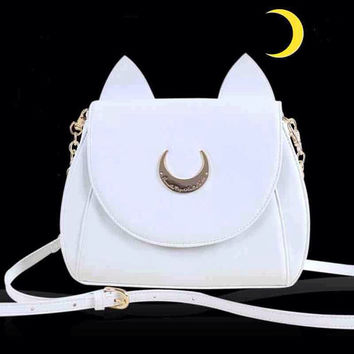 Sailor Moon Luna Shoulder Bag - Black or White