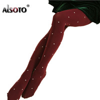 Kawaii Women Tights sexy stockings for girls Heart Pattern Design Winter warm pantyhose Slim was thin 120d plus size