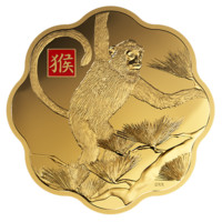 Pure Gold One Kilogram Coloured Coin - Year of the Monkey - Mintage: 10 (2016)