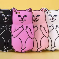 Silicon Cat iPhone Case
