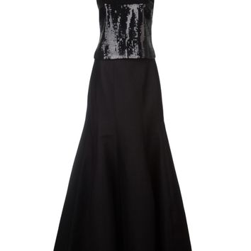 Halston Heritage Two Piece Gown Set