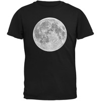 Earth's Moon Black Youth T-Shirt