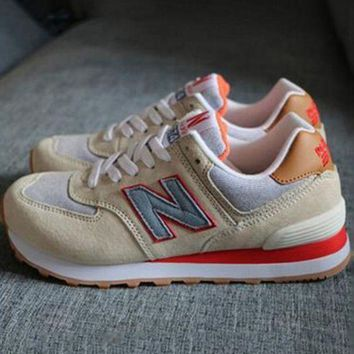 ONETOW new balance abric is breathable n leisure sports couples forrest gump running army green