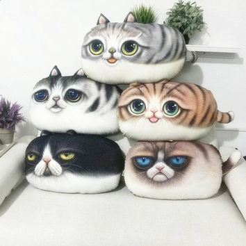 Creative emoji 3D almofada emoticon Pillows Decorative  Cat Cushions Smiley Face Pillow and Washable Waist  Cute seat cushion