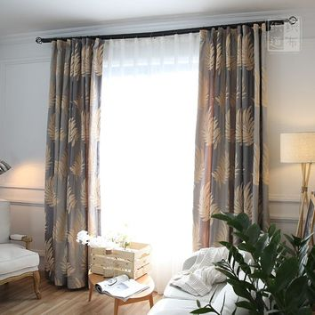 Luxury style jacquard curtain for villa hight quality customized window curtains