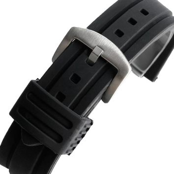 20mm 22mm 24mm 26mm 28mm Man Woman Watch Band Military Army Black Silicone Rubber Watch Straps For Sport Waterproof
