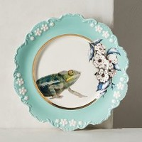 Lou Rota Nature Table Dessert Plate, Chameleon in Turquoise Size: One Size Dinnerware