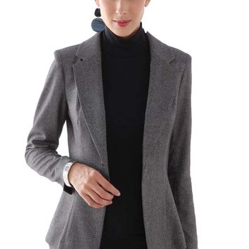 L'Avenue des Bebes Single Breasted Maternity Suit Jacket - Grey