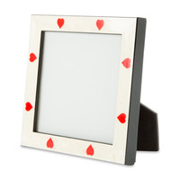 White Burlwood Bone Heart Frame