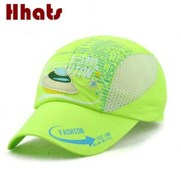 Trendy Winter Jacket which in shower breathable mesh kids summer baseball cap adjustable outdoor children snapback hat curved boy or girl sun hat AT_92_12