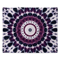"Iris Lehnhardt ""Batik Pattern"" Purple Geometric Fleece Throw Blanket"