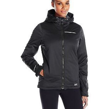 Under Armour Women's ColdGear Infrared Ampli Jacket, Black/Boulder, Medium