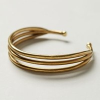 Thrice Slice Cuff by Anthropologie Gold One Size Bracelets