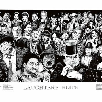 Howard Teman Laughter's Elite Comedians Poster 19x36