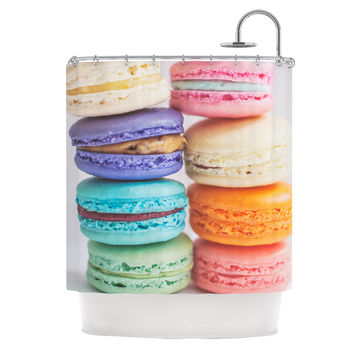 "Libertad Leal ""I Want Macaroons"" Shower Curtain"
