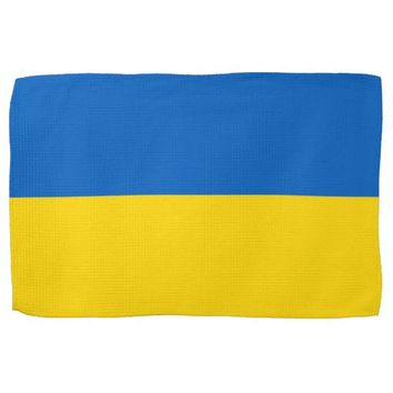 Kitchen towel with Flag of Ukraine