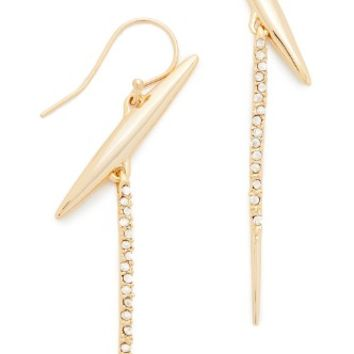 Crystal Modernist Spear Drop Earrings
