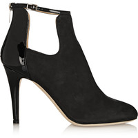 Jimmy Choo - Livid nubuck and patent-leather ankle boots
