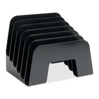 """sparco products incline desk sorter,6 compartment,7-7/8""""x6-1/4""""x6-1/2"""",black"""