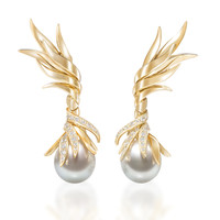 Tasaki High Jewelry Pearl Earrings | Moda Operandi